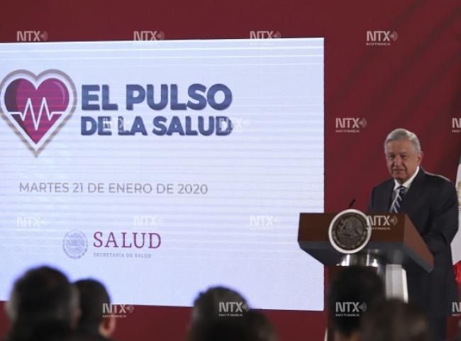 """Presenta López Obrador informe """"El Pulso de la Salud"""""""