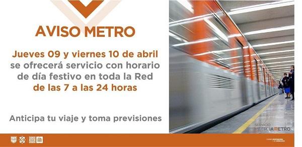 Pide metro a usuarios tomar sus previsiones