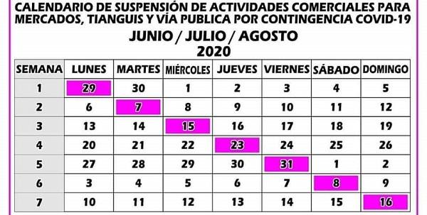 Suspenden un día a la semana tianguis y mercados en Ecatepec para disminuir contagios de Covid-19