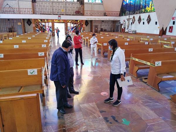 Sanitizan templos para su reapertura el próximo 20 de julio