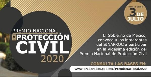 Cámara de Diputados participa en el Premio Nacional de Protección Civil 2020