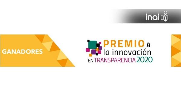 ELIGEN A LOS GANADORES DEL PREMIO A LA INNOVACIÓN EN TRANSPARENCIA 2020