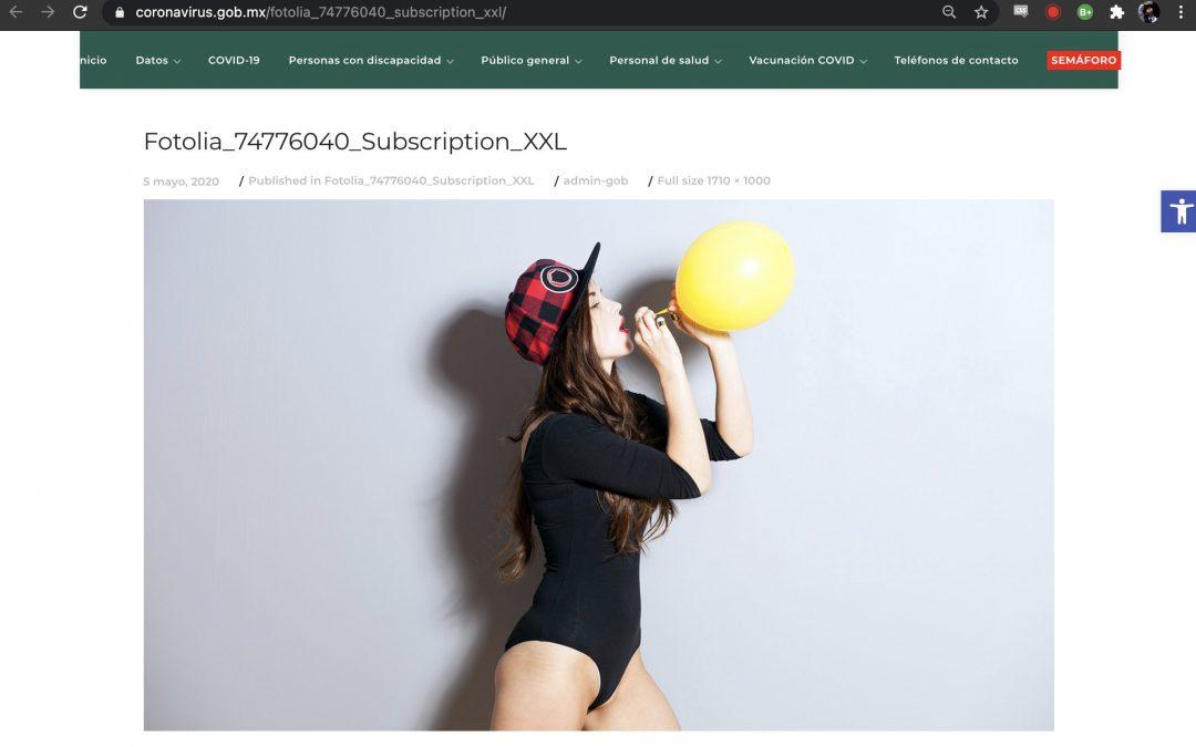 De los creadores del logo del Aeropuerto Felipe Ángeles… llegan chicas en bikini a la web de Covid