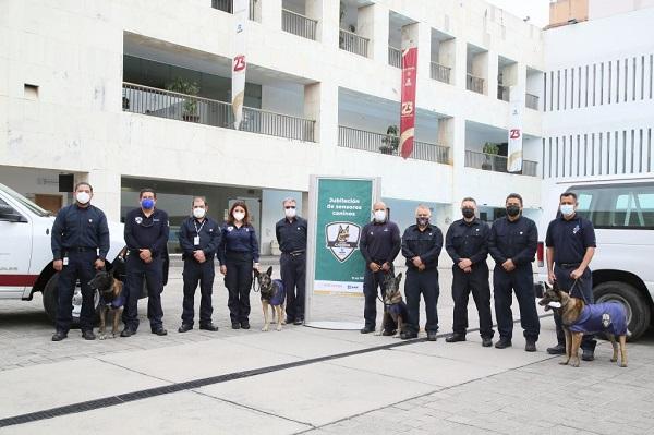 Se jubilan sensores de la Unidad Canina de la Administración General de Aduanas, pilares en la Estrategia Nacional Anticorrupció