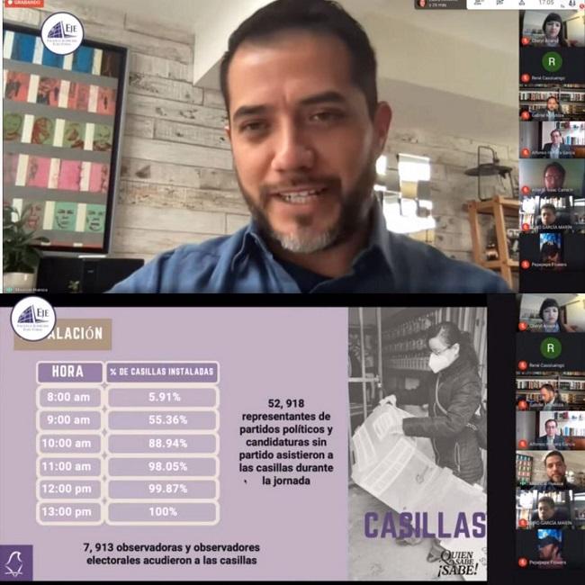 Presenta IECM balance de los comicios en la Ciudad de México