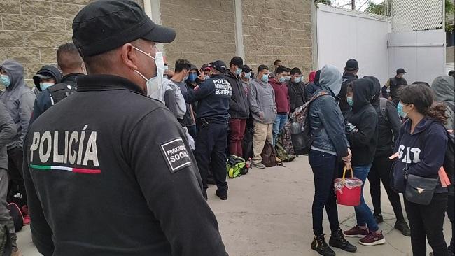 Policía de Ecatepec rescata a 74 migrantes centroamericanos