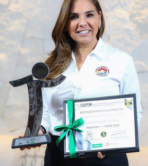 Premian a municipio de Benito Juárez por innovación gubernamental