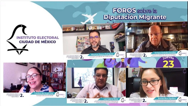Organiza IECM foros sobre la Diputación Migrante de la Ciudad de México